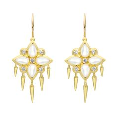 """Paul Morelli Small """"Appliqué"""" Mother-of-Pearl Earrings"""