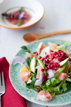 Winter Citrus Salad {Vegetarian, Shrimp or Steak}  by marshallsabroad #Salad #Citrus