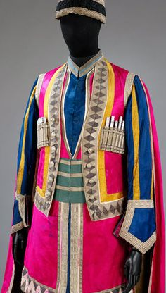 Costume worn by a lezsghin in Mikhail Fokine's ballet Thamar, Diaghilev Ballets Russes, designed by Leon Bakst. Museum Number to Theatre Costumes, Ballet Costumes, Dance Art, Ballet Dance, Léon Bakst, Ballet Russe, Russian Avant Garde, Avant Garde Artists, Russian Ballet