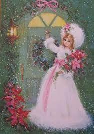 Image result for vintage christmas pink