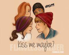 """Selena Gomez y Justin Bieber en el vídeo cover deL vídeo """"Call me maybe"""" de Carly Rae Jepsen"""