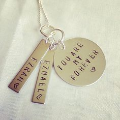 You Are My Forever Necklace by JEMJewelryDesign on Etsy