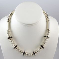 Silver Bead Necklace by Jack & Mary Tom, Navajo