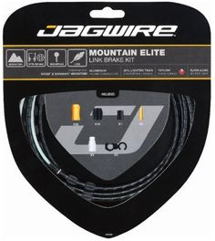 Jagwire Mountain Elite Link Bicycle Brake Cable Housing Kit (Black) by Jagwire. Jagwire Mountain Elite Link Bicycle Brake Cable Housing Kit (Black). Mounain.