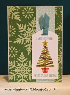 Stampin' Up! Christmas card made using Festival of trees stamp set and Trim the Trees paper stack.