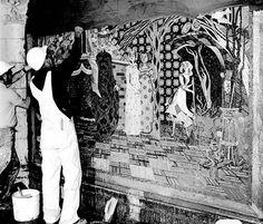 WDW Construction: CinderellaCastle mosaic