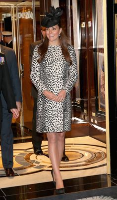 Catherine, Duchess of Cambridge disembarks the Royal Princess after receiveing a tour on board after the Princess Cruises ship naming ceremony at Ocean Terminal on June 13, 2013 in Southampton, England.