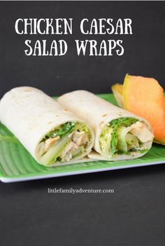 Chicken Caesar Salad Wrap -Before your head out on your next family camping trip, you must check out these 26 camping recipes. We will want to try these family-friendly recipes ranging from main entrees to desserts and snacks. These meal ideas are sure to make your next campout a great success!