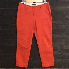 """Burnt orange capris for sale on poshmark @thrifthappens please do not forget to enter code """"JYSRI"""" for $10 off your first purchase. Lands' End Pants Ankle & Cropped"""