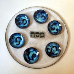 Ceramic Seder Plate, Jewish Holiday Gift, Passover #housewares @EtsyMktgTool http://etsy.me/2jCf4q1 #ceramicsederplate #housewarminggift