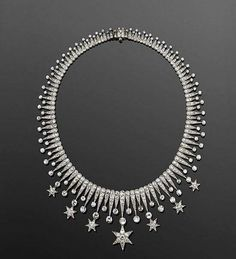 "Circa 1900 ""Diamond Star"" Necklace."