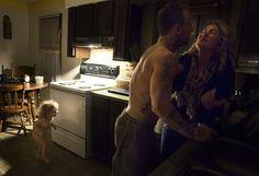 Escena de violencia doméstica en una familia de EE.UU. objeto del reportaje. | Sara Naomi Lewkowicz