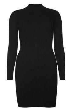 Primark - Black Ribbed Side Split Dress