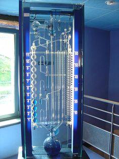 Modern Water Clock - time keeps drip .. drip .. dripping along ...