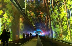Visitors explore a new tunnel in Lyon, France
