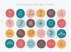 Pastel Highlights, Story Highlights, Instagram White, Free Instagram, Instagram Emoji, Branding, Insta Icon, Instagram Design, Social Media Icons