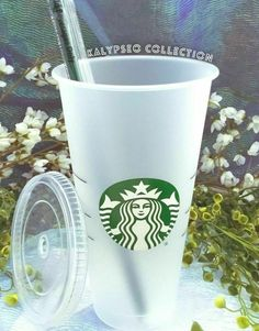 NEW Starbucks Venti Reusable Tumbler w Lid & Straw To Go Frosted Coffee Cup