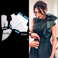 ENG➡️dear here is the pattern you were asking for start from a basic block with darts and draw the slash lines for… Easy Sewing Patterns, Clothing Patterns, Dress Patterns, Pattern Draping, Bodice Pattern, Clothing Store Displays, Simple Gowns, Sewing Blouses, Modelista
