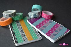 Take a Notebook From Blah with Washi Tape – www.GetWashi.com. $1.97 per roll!