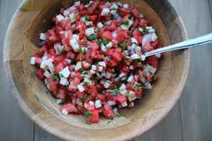 The Watermelon Jicama Salsa at the Blue Iguana on Carnival Cruise Lines is kind of unforgettable, to the point that I had to make it as soon as I got home.