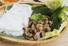 Steamed Rice Pancake with Grilled Pork Recipe (Bánh Ướt Thịt Nướng)