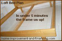 loft bed plan frame