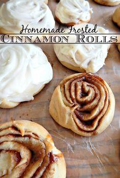 """Homemade Frosted Cinnamon Rolls, """"Taste Just Like Cinnabon!"""""""
