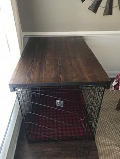 Dog Care is Vital For the Well-Being of Your Pet Dog Crate Cover, Dog Kennel Cover, Diy Dog Kennel, Diy Dog Bed, Kennel Ideas, Dog Crate Table, Dog Crate Furniture, Diy Dog Crate, Furniture Projects