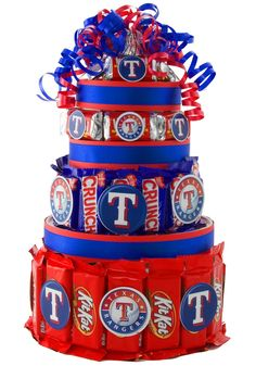 texas rangers baseball - Bing Images  cute idea oh great idea for my brothers baby shower when he decides to have babies