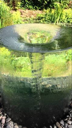 Volute Water Feature by Tills Innovations. The mesmerizing and seldom seen effect of nature. The stunning vortex water feature by Tills Innovations.