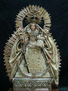 Virgem e o menino ouro e prata