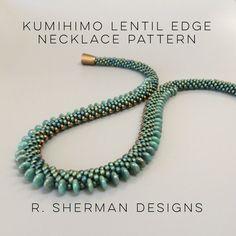PDF Kumihimo Lentil Edge Necklace Pattern di RShermanDesigns