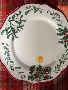 Better Homes and Gardens 2014 Limited Edition Christmas Dinner Plates Lot of 2 : christmas dinner plates cheap - pezcame.com