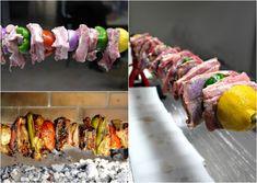 κοντοσούβλι χοιρινό The Kitchen Food Network, Food Network Recipes, Sushi, Bbq, Food And Drink, Meat, Cooking, Ethnic Recipes, Greek