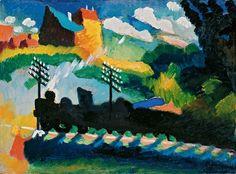 Wassily Kandinsky, Railroad at Murnau, 1909