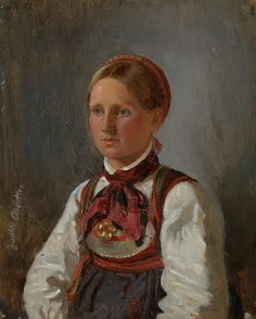 Portrait of Gunild Olsdatter from Tinn by Adolph Tidemand Scandinavian Paintings, Scandinavian Art, Oil Painting Background, Google Art Project, National Museum, Paintings For Sale, Art Google, Art And Architecture, Art World