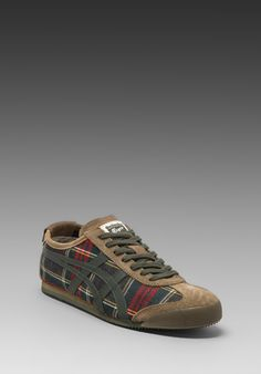 ONITSUKA TIGER Mexico 66 in Red Tartan/Dark Grey - Sneakers