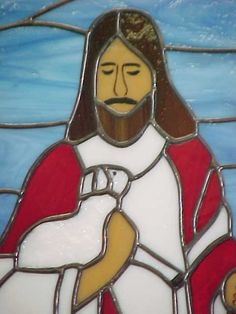Jesus the Good Shepherd - Bethel Chapel Church, Poplar Bluff, MO 2005 & 2008, by Sandy (Johnson) Burnett, (formerly Glass with a MIssion, Art-Attack-Studios,  GlassMoose.com)