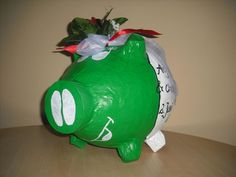 italienisches Hochzeitsschwein - grosses Sparschwein - Geldgeschenk-Geschenkidee