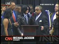 Michael Jackson at James Browns Funeral 2006 - YouTube