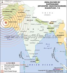 India rocked by Earthquake