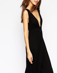 ASOS TALL Plunge Front Maxi Dress