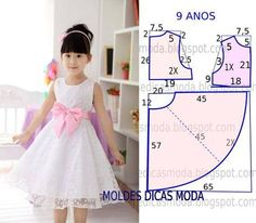 70 Ideas baby dress sewing tuto robe for 2019 Baby Girl Dress Patterns, Dress Sewing Patterns, Little Girl Dresses, Girls Dresses, Flower Girl Dresses, Fashion Kids, Fashion Sewing, Costura Fashion, Dress Anak