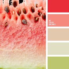 Fresh, cheerful palette that uses rich natural colors: red, bright pink, light pink, light olive and white. These rich colors call to be used in kitchen Colour Pallette, Colour Schemes, Color Combos, Good Color Combinations, Color Harmony, Color Balance, Balance Design, Color Concept, Design Seeds