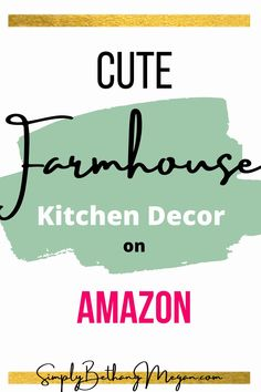 Amazon is an amazing place to find great deals on unique farmhouse decor items! Here are some of the best farmhouse kitchen decor items on Amazon. Amazon home decor, Amazon finds, Amazon farmhouse decor, farmhouse decor items on Amazon, kitchen decor, Amazon farmhouse finds