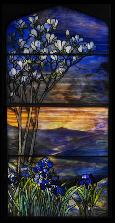 River of Life Window by Louis Comfort Tiffany (American), stained glass, genre: Art Nouveau, Stained Glass Designs, Stained Glass Panels, Leaded Glass, Stained Glass Art, Window Glass, Louis Comfort Tiffany, Broken Glass Art, Sea Glass Art, Mosaic Glass