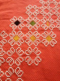 This Pin was discovered by Hül Cross Stitch Borders, Cross Stitch Designs, Cross Stitching, Cross Stitch Embroidery, Teapot Cover, Palestinian Embroidery, Beaded Crafts, Crochet Flower Patterns, Yarn Shop