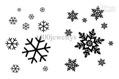 snowflake+tattoo+designs | Snow Flake Tattoo - Tatuagem Floco de Neve I like the big one on the right