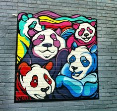 spray Saints spray art | Pandas Street art located in Bowling Green St Laneway, ... | art