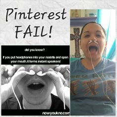 It did not work! But it was funny! Pinterest FAIL!
